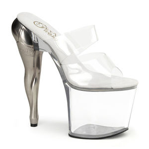 Platform Transparent Clear High Heel Shoes